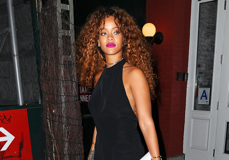 Rihanna looking stunning as she heads out from dinner at MAMO restaurant in NYC