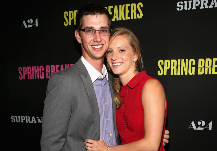 Heather Morris and Taylor Hubbell at the Spring Breakers Premiere on March 14, 2013.