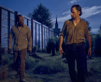 Morgan Jones and Rick Grimes in The Walking Dead Season 6