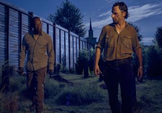 Morgan Jones and Rick Grimes in The Walking Dead Season 6