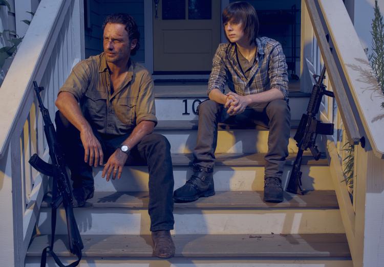 Rick Carl Walking Dead Season 6