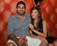Farrah Abraham and new boyfriend Simon Saran attend a pre Grand Opening party at the Crazy Horse Caberet in Pompano Beach, FL