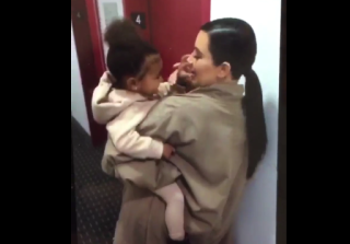 North West & Kim Kardashian Have Adorable Mother/Daughter Moment At NYFW (VIDEO)