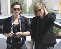 Kristen Stewart and her rumoured girlfriend Alicia Cargile are seen going to lunch on Sunset Blvd in Los Angeles, CA