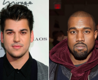 Rob Kardashian and Kanye West