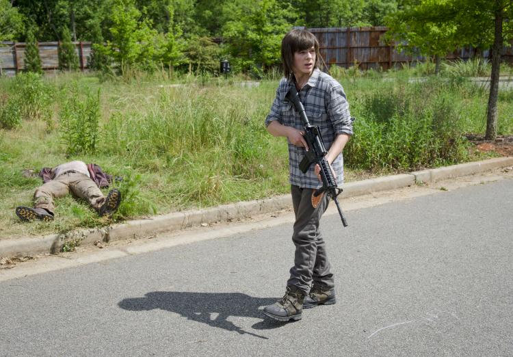 Carl Walking Dead Season 6