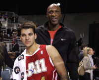Rob Kardashian & Lamar Odom — 2011 BBVA NBA All-Star Celebrity Game