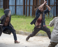 Wolf Attack Walking Dead Season 6