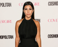 Kourtney Kardashian arrives at Cosmopolitan's 50th Birthday Celebration