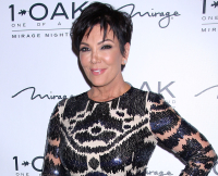 Kris Jenner celebrates birthday at 1 OAK Nightclub at the Mirage Hotel & Casino **NO DAILY MAIL SALES**