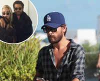 Scott Disick out and about on the beach in Miami Beach.
