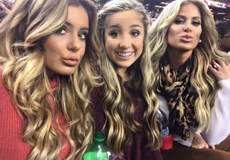 Brielle and Ariana Biermann Kim Zolciak-Biermann
