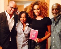 Phaedra Parks and Cynthia Bailey With Phaedra's Book