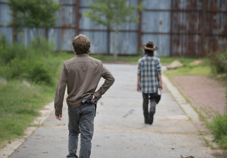 Ron and Carl The Walking Dead Season 6, Episode 7