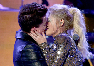 AMAs 2015: Watch Meghan Trainor and Charlie Puth Make Out on Stage! (VIDEO)