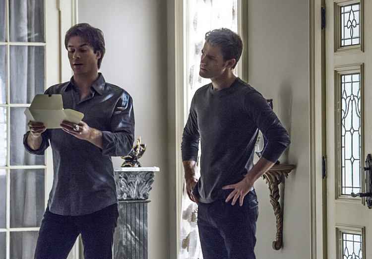 Damon and Stefan in TVD Season 7 Episode 6