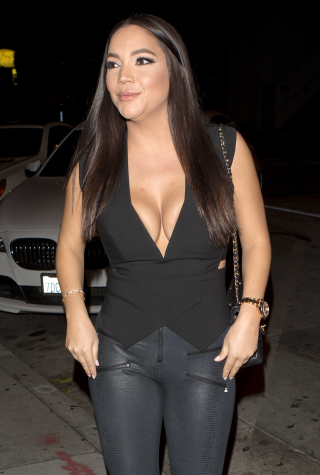 Jessica Parido steps out hand in hand with her new beau just days after publicly announcing that she has left her husband Mike Shouhed in West Hollywood, CA