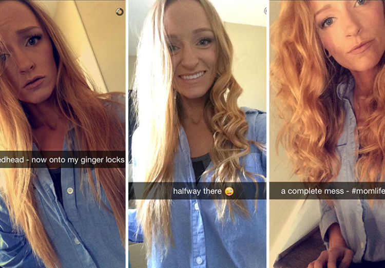 Maci Bookout hair