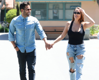 Mike Shouhed and Jessica Parido from 'Shahs of Sunset' shop in Beverly Hills
