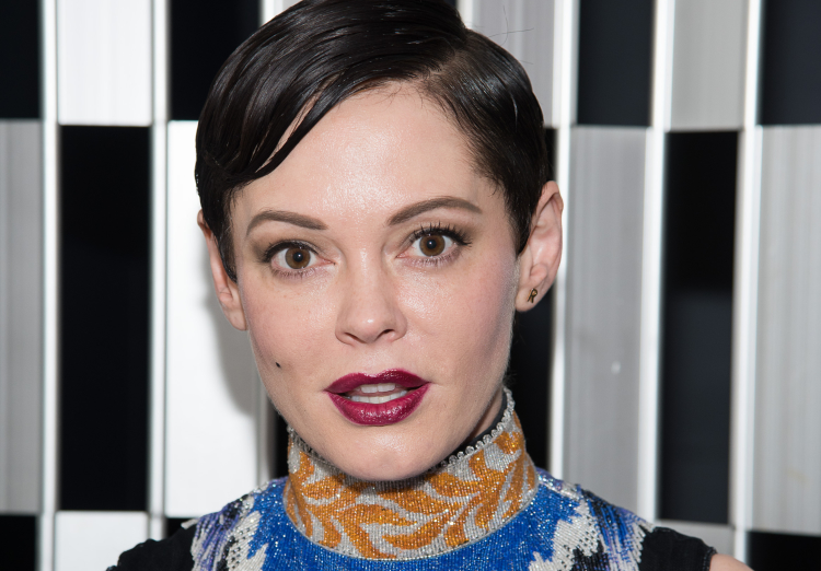 Rose McGowan bald