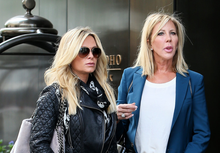 TV personalities Shannon Beador, Vicki Gunvalson and Tamra Barney walk to lunch in SoHo in New York City