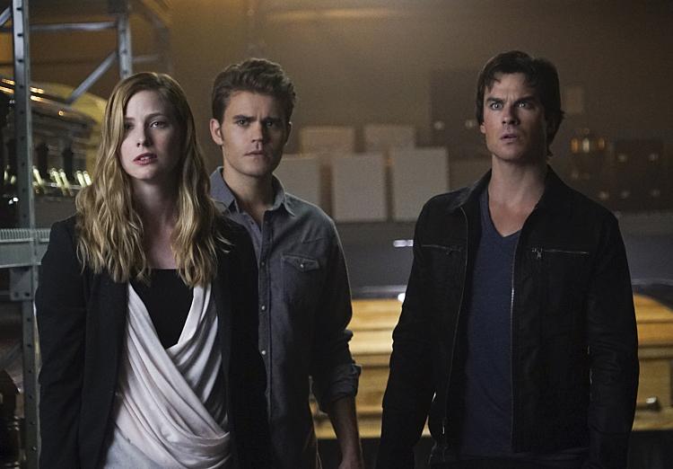 Valerie, Stefan, Damon in TVD Season 7 Episode 5