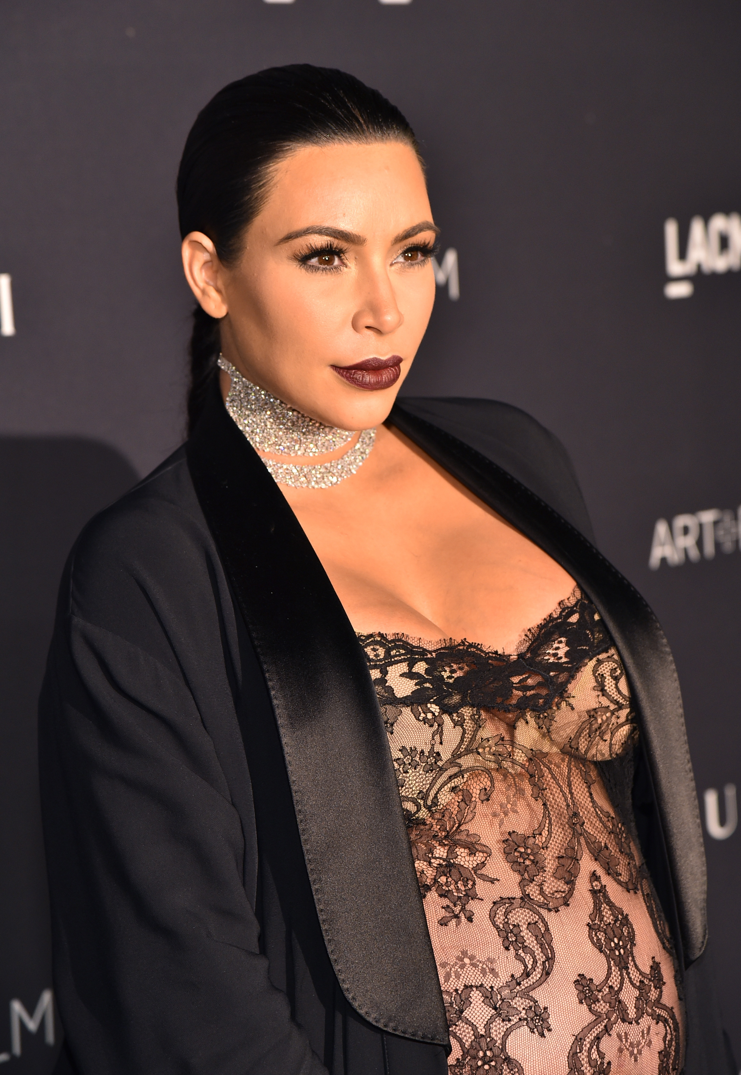 Kim Kardashian West attends LACMA 2015 Art+Film Gala Honoring James ... Kim Kardashian