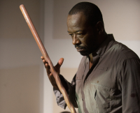 Morgan and His Staff in The Walking Dead Season 6 Midseason Finale