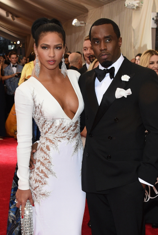 P. Diddy and Cassie at 2015 Met Gala