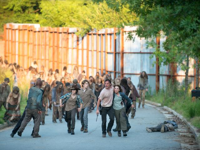 Rick Carl Deanna The Walking Dead Season 6 Midseason Finale