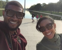 Usher and Wife Grace Miguel