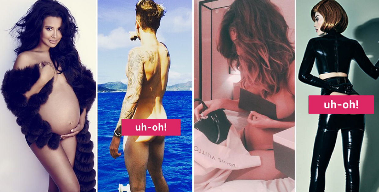 the 15 most talked about nude celebrity moments of 2015