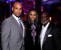 Boris Kodjoe, Cynthia Bailey, and Peter Thomas