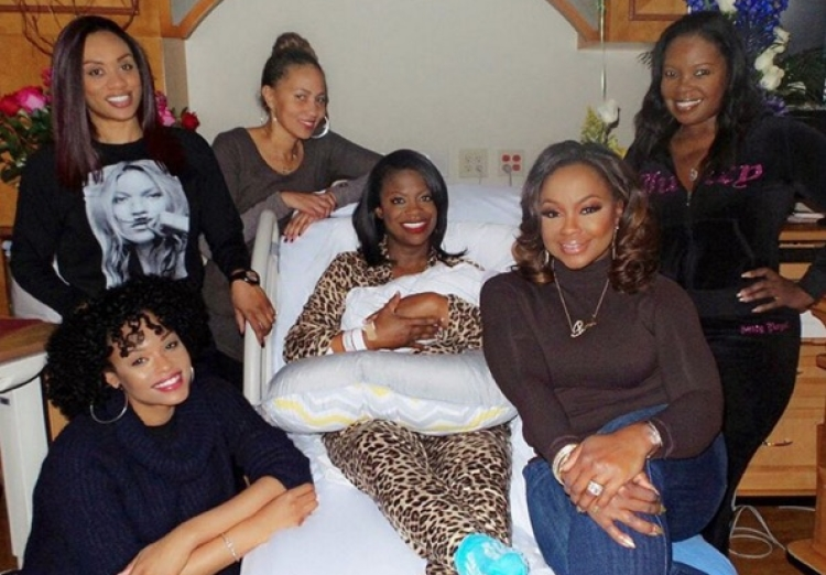 Demetria McKinney, Phaedra Parks, and Others Visit Kandi Burruss and Baby Ace