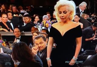 Golden Globes 2016:  Leonardo DiCaprio\'s Reaction to Lady Gaga Explained (VIDEO)