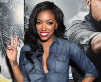 Porsha Williams Attends Ride Along 2 Advance Screening at Regal Cinemas Atlantic Station on January 13, 2016