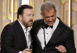 Golden Globes 2016: What Did Ricky Gervais Say to Mel Gibson?