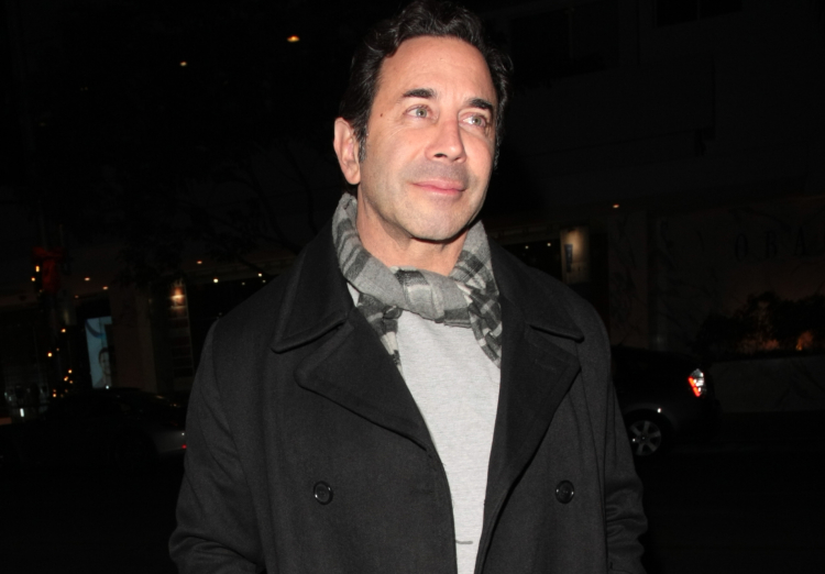 Adrienne Maloof's Ex-husband, Dr.Paul Nassif and his girlfriend Chantell DeJong dine out at The Palm restaurant, in Beverly Hills, CA