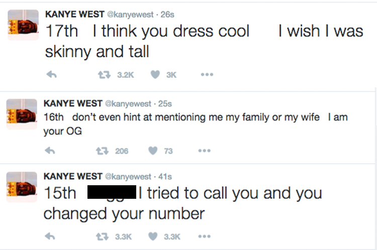 kanye west twitter account