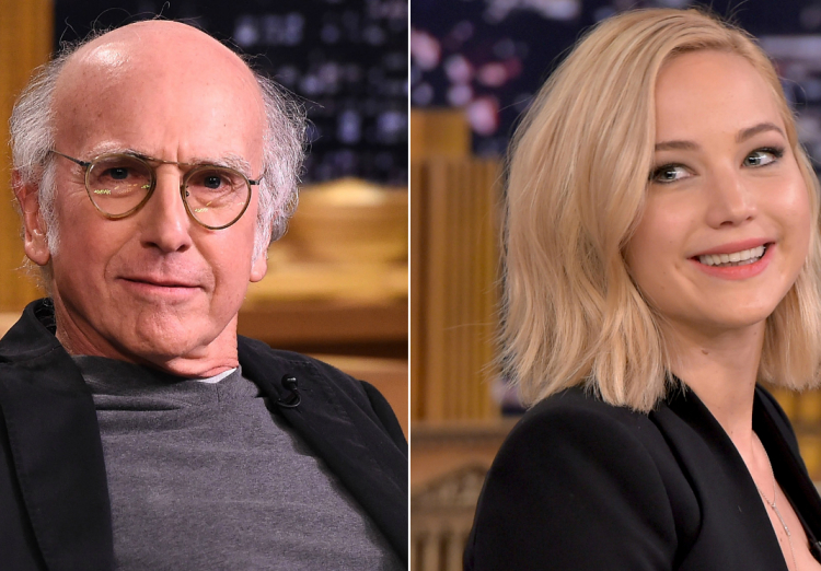 Weird celebrity crushes, Larry David, Jennifer Lawrence