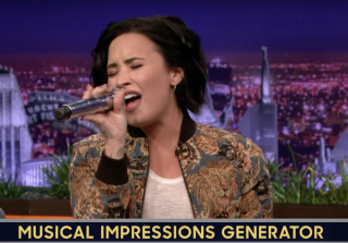 Demi Lovato Slays Christina Aguilera Impression on \'The Tonight Show\' (VIDEO)