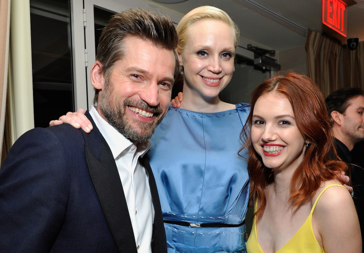 Nikolaj Coster-Waldau, Gwendoline Christie and Hannah Murray