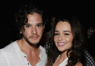 \'Game of Thrones\' Stars Emilia Clarke & Kit Harington Photographed Kissing