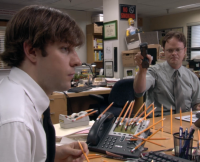 The Office, pranks, Jim, Dwight