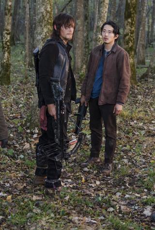 Rosita, Glenn, Michonne and Daryl The Walking Dead Season 6, Episode 15