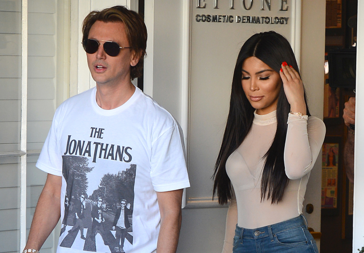 Jonathan Cheban Leaves Epione Skincare With a Kim Kardashian Look A Like