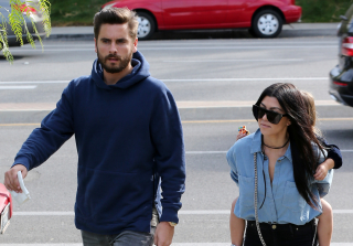 Kourtney Kardashian & Scott Disick Reunite For 'The Little Mermaid' (PHOTOS)