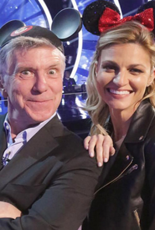 Tom Bergeron and Erin Andrews prepare for Dancing With the Stars Season 22 Disney Night .