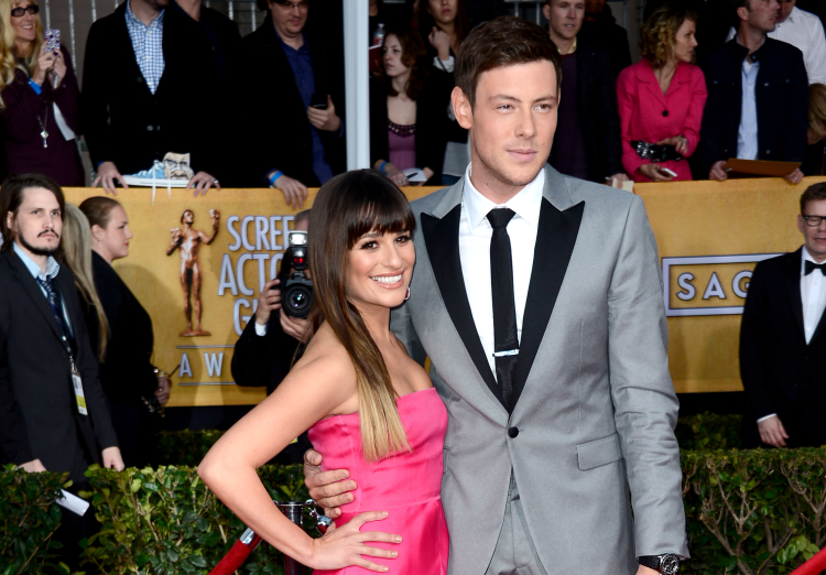 Lea Michele and Cory Monteith arrive at the 19th Annual Screen Actors Guild Awards on January 27, 2013