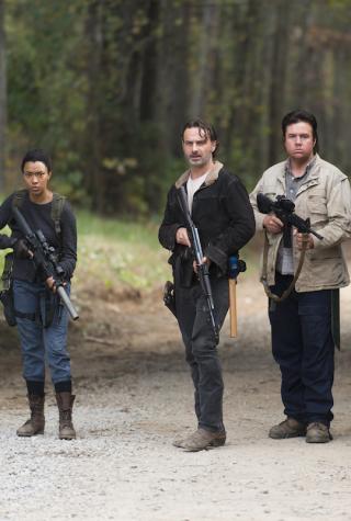 Sasha, Rick, Eugene, and Abraham The Walking Dead Season 6 Finale